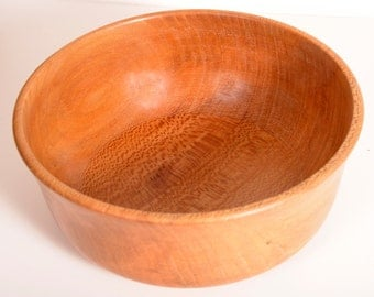 Turned Wood Bowl, American Lacewood, Serving Bowl Plate, Handturned