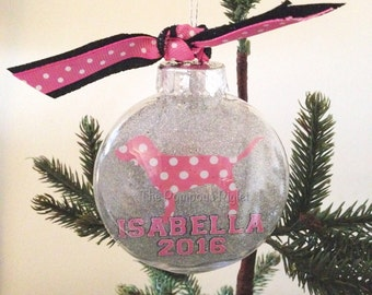 PINK Inspired Personalized Ornament