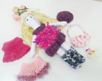 Sugar Pop Doll, Soft Doll, Play Doll, Rag doll, Pink Doll, Sweet Babes Doll, Cloth doll