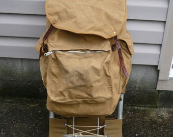 Boy Scouts of America Canvas Cruiser Back Pack Vintage Mid 1960's Camping Gear