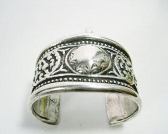Antique Kazakh Bracelet, Central Asian Cuff from Kazakhstan