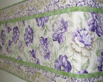 Spring Table Runner, Floral, Easter, quilted, Summer, table linens, fabric from Timeless Treasures