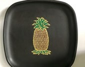 Couroc Inlaid Pineapple Square Tray