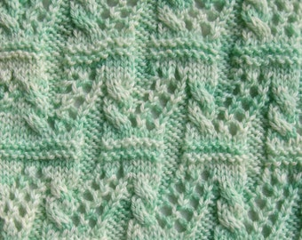 Knit Scarf Pattern:  Seta Scarf Knitting Pattern