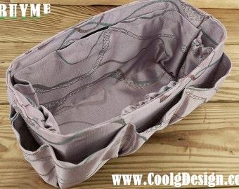 Purse organizer extra sturdy shiny purple large 25x10cm