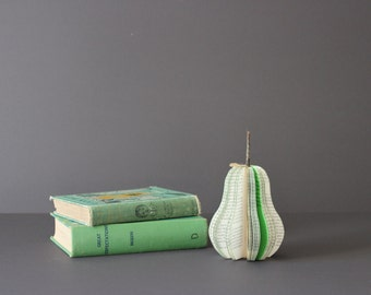 small VINTAGE BOOK PEAR /// made to order