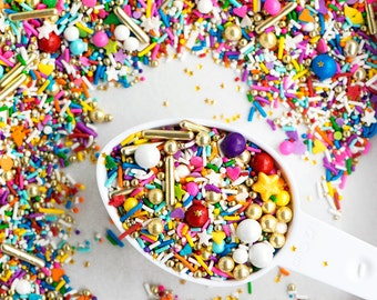 OVER THE RAINBOW Twinkle Sprinkle Medley, Rainbow and Gold, Sprinkle Mix