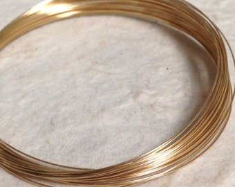 28 Gauge Gold Filled Wire   Half hard - Round    Luxe Wire for Tiny Gemstone Wrapping   10Ft- HH28GF10