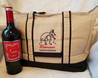 Wine-o-saur Insulated Dinosaur Tote Bag