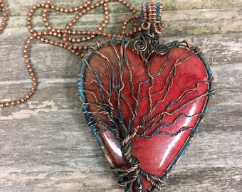 Tree of Life Pendant, Tree of Life Necklace, wire wrap necklace, Wire wrap Jewelry, Unique Jewelry, Unique Gift