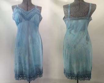 Splatter Tie Dye Slip Size 38 Small Snowdon's Vintage 60's Upcycle DS1