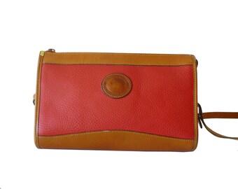 Dooney & Bourke Watermelon Red AWL Zip Top Crossbody Shoulder Bag