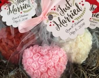 Floral Heart Soap Favors: Bridal Shower Favors, Baby Shower Favors, Birthday favors, Soap favors, Wedding Favors, Destination Wedding Favors