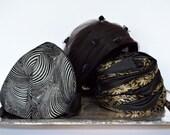 Vintage Ladies Hats Black 1940s (set of 3)