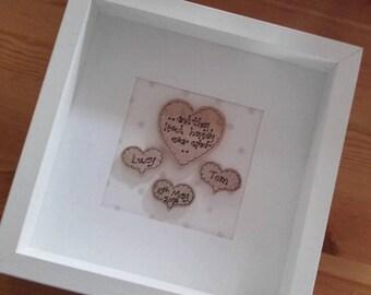 Personalised Box Frame Wedding Gift