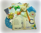 Carta Bella Baby Mine Inspiration Kit, Embellishment Kit, Life Project Kit for Scrapbooks Cards Mini Albums Tags and Papercrafts