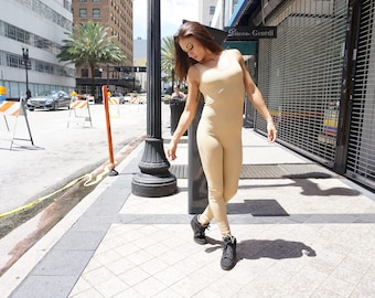 Sleeveless Bodysuit, Unitard, Catsuit, Quality Spandex, Available in More Colors. Sizes S, M, L, XL