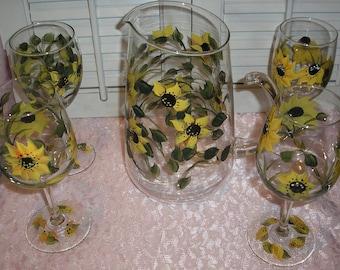 Sunflower Pitcher Etsy