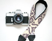 Purple Camera Strap - Padded Camera Strap - Neck Strap - DSLR Camera Strap - Gifts for Weding Photographer - Camera Accessories - Eliza