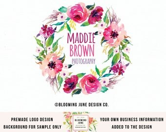 wedding planner logo photography logo photographer logo save the date logo premade logo event planner logo boutique logo wedding monogram