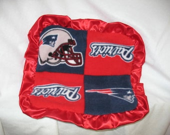 New England Patriots Baby Lovie / Sensory /  Fleece Lovey / Minky Dot Blanket