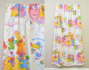 1980s Popples Curtain Panels, Set of 2