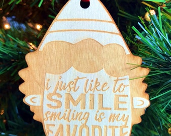 Elf Quotes - Wooden Laser Cut/Engraved Christmas Ornament