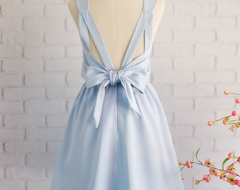 Serenity Blue dress light Blue dress blue party dress blue cocktail dress Serenity Blue bridesmaid dress Serenity Blue backless dress