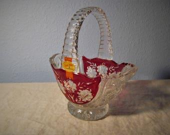 Vintage Anna Hutte Bleikristall Crystal Basket
