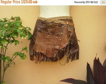 """20%OFF bohemian tribal gypsy fringed leather belt..25"""" to 33"""" waist or hips.."""