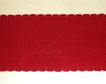Zweigart Red Aida Band 4,5 cm 1.75 inch width 14 count