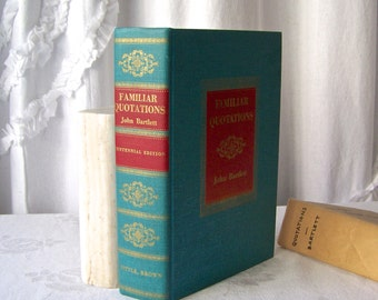 Vintage  Familiar Quotations John Bartlett 1070 Pages of Quotes ca 1955