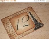 Christmas Sale Vintage Style Paris Eiffel Tower French Script Luxury Table Numbers/Names Wedding Original Design