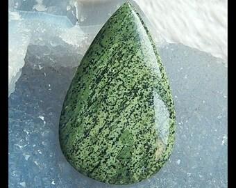 Green Zebra Gemstone Cabochon,48x30x5mm,10.56g