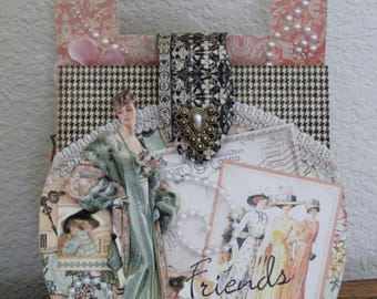 Graphic 45 A Ladies' Diary Collection Purse Shaped Photo Album