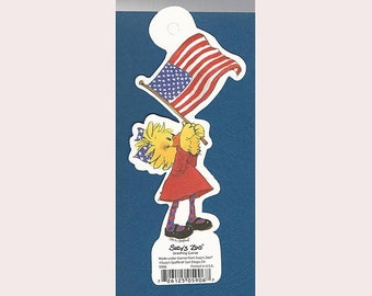 Suzy's Zoo Scrapbook Card Stock Die Cut Character SUZY DUCKEN with American Flag #5906