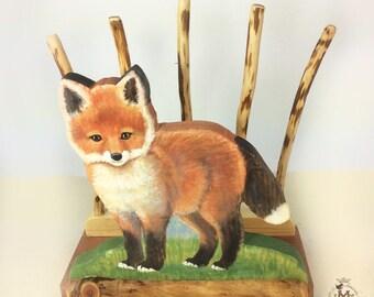 Little Fox Bedside Bookrack and Desk Organizer