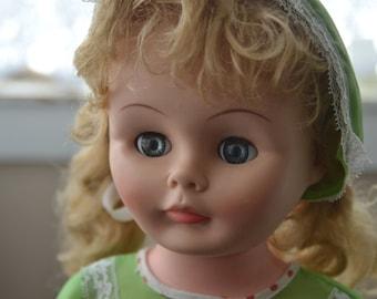"""Antique Plastic Doll 23"""""""