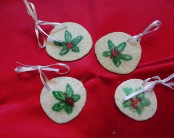 Hand painted Sand Dollar Ornaments - Sand Dollar Ornament - Set of 4 Four - REAL Sand Dollars