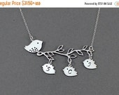 MOTHER'S DAY Sale Personalized Mother Bird Necklace Family Tree Necklace Mom Jewelry Mom Bird Jewelry Initial Necklace Mothers Grandma Gift
