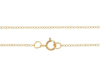 Finished Chains with spring ring clasp Gold Filled 1.5x1.2mm 24 Inch Cable Chain - 5pcs Bulk Quantity (2787)/5
