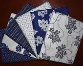 Fat Quarter Bundle of 6 of Low Country Indigo by Nancy Gere for Windham Fabrics
