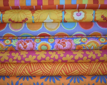 Fat Quarter Bundle of 7 from the Artisan Collection by Kaffe Fassett for Westminster Fibers