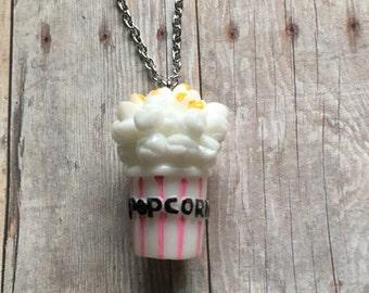 Adorable popcorn necklace