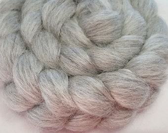 Silver Alpaca and Cultivated Silk Roving - 70/30 - 4 ounces