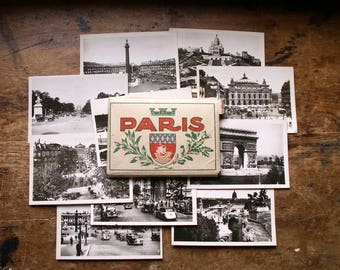 Vintage Souvenir Travel Photo Booklet from Paris, France