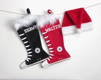 Family Christmas stocking set of 2:  Converse stocking