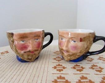 Toby Jug Mugs Sir Walter Raleigh Set of Two