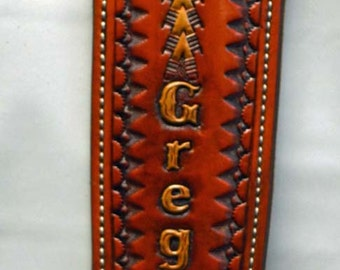 Flying Duck Rifle Sling, Handmade, Carved & Tooled With American Pride
