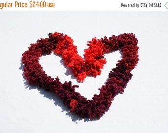CHRISTMAS SALE Red Knit Scarf – Crochet scarf - Katia Aloha Multicolored Scarf Orange Purple scarf  Christmas Gift – Gift for her – Valentin